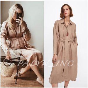 ❤️❤️ZARA TIED SHIRT DRESS